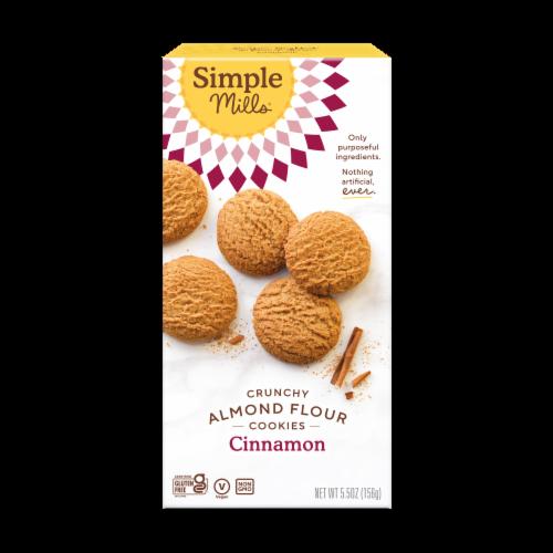 Simple Mills Gluten Free Crunchy Cinnamon Cookies Perspective: front