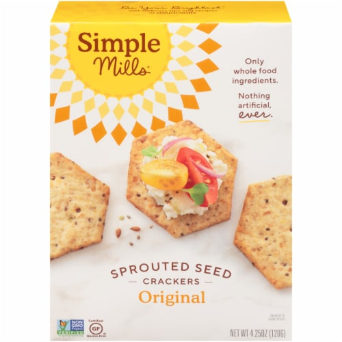 Simple Mills Original Sprouted Seed Crackers Perspective: front