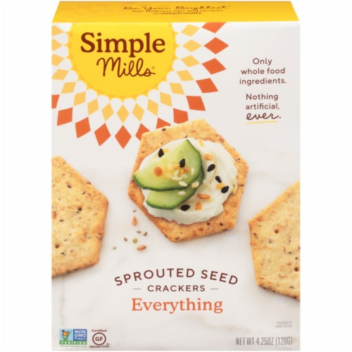 Simple Mills Everything Sprouted Seed Crackers Perspective: front