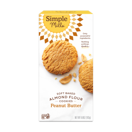 Simple Mills Soft Baked Peanut Butter Cookies Perspective: front