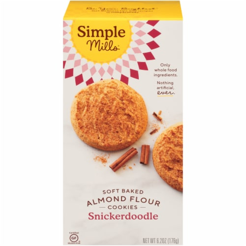 Simple Mills Soft Baked Snickerdoodle Cookies Perspective: front