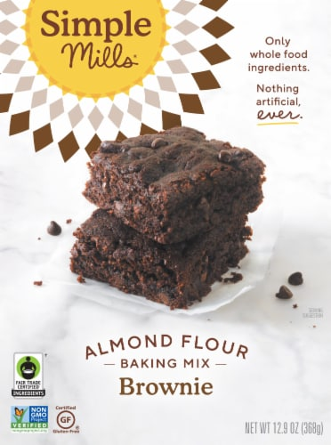 Simple Mills Fair Trade Almond Flour Brownie Mix Perspective: front