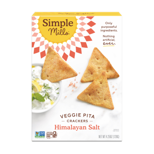 Simple Mills Himalayan Salt Veggie Pita Crackers Perspective: front