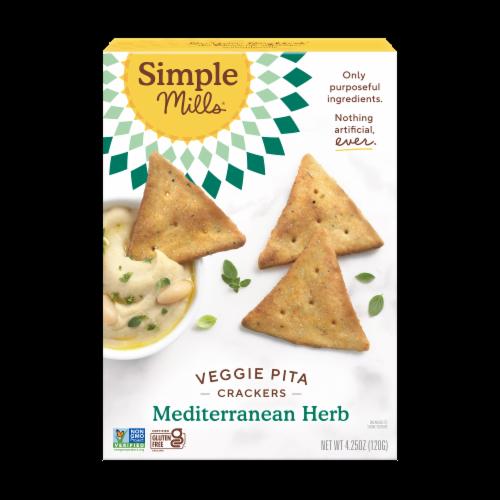 Simple Mills Mediterranean Herb Veggie Pita Crackers Perspective: front