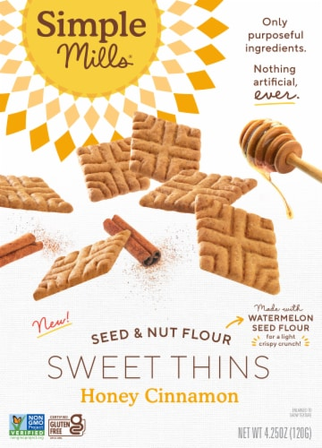 Simple Mills Honey Cinnamon Sweet Thins Perspective: front