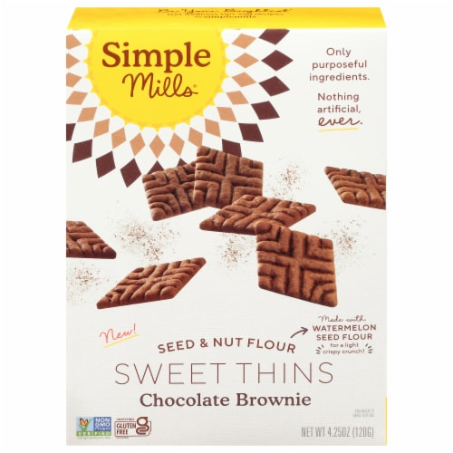 Simple Mills Chocolate Brownie Sweet Thins Perspective: front
