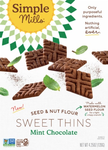 Simple Mills® Chocolate Mint Sweet Thins Perspective: front
