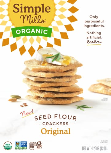 Simple Mills Organic Seed Crackers - Original Perspective: front