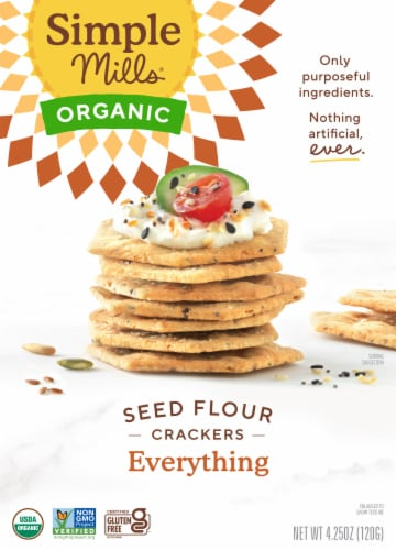 Simple Mills Organic Seed Flour Crackers - Everything Perspective: front