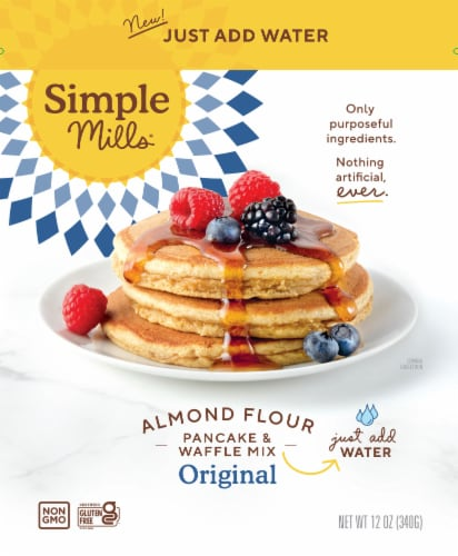 Simple Mills Just Add Water Original Pancake and Waffle Almond Flour Mix Perspective: front