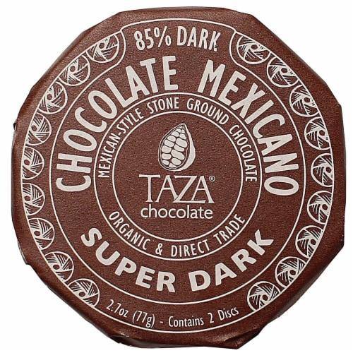 Taza Chocolate Organic Super Dark 85% Dark Chocolate Mexicano Discs Perspective: front