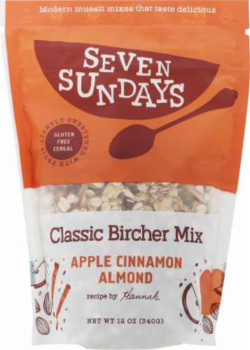Seven Sundays Bircher Apple Cinnamon Muesli Perspective: front