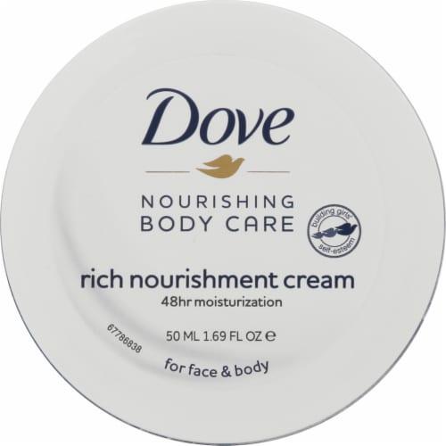 Dove Nourishing Body Care Rich Nourishment Face & Body Cream Perspective: front