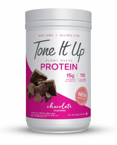 Tone It Up Plant Based Chocolate Protein Powder Perspective: front