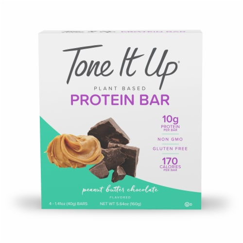 Tone It Up Chocolate Peanut Butter Bar 4 Count Perspective: front