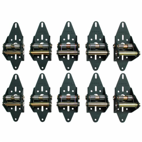 Green Hinge System Steel Residential Garage Door Hinge - Case Of: 1; Each Pack Qty: 10; Total Perspective: front