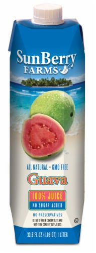 Sunberry Farms 100% Guava Juice Perspective: front