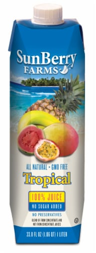 Sunberry Tropical 100% Juice Perspective: front