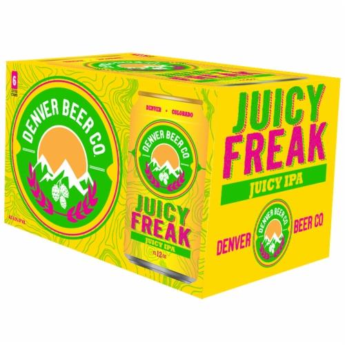 Denver Beer Co. Juicy Freak IPA Perspective: front