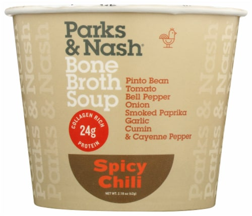 Parks & Nash Spicy Chili Bone Broth Soup Perspective: front