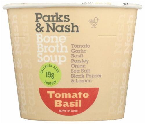 Parks & Nash Tomato Basil Bone Broth Soup Perspective: front