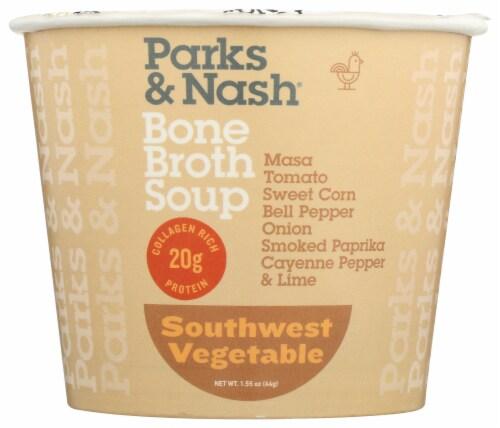 Parks & Nash Southwest Vegetable Bone Broth Soup Perspective: front