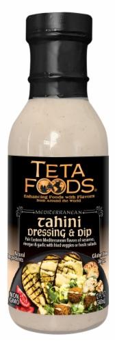 Teta Foods Mediterranean Tahini Dressing & Dip Sauce Perspective: front