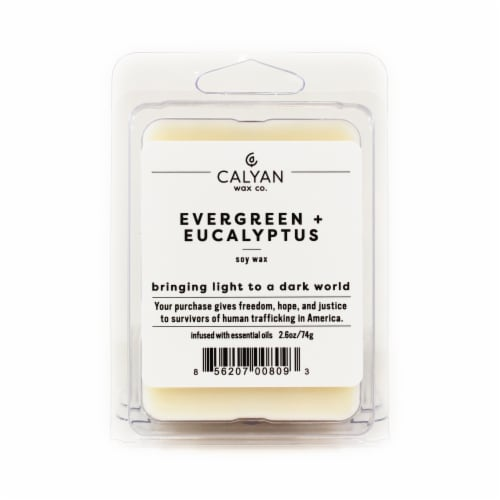 Calyan Wax Co. Soy Wax Melt 6 Pack - Evergreen/Eucalyptus Perspective: front