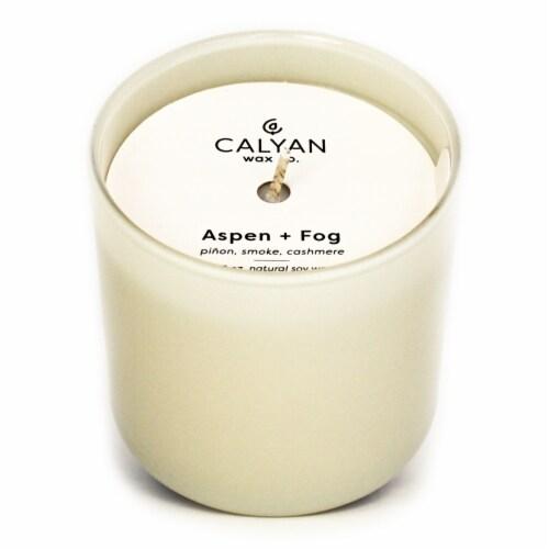 Calyan Wax Co. Aspen+Fog Jar Candle Perspective: front