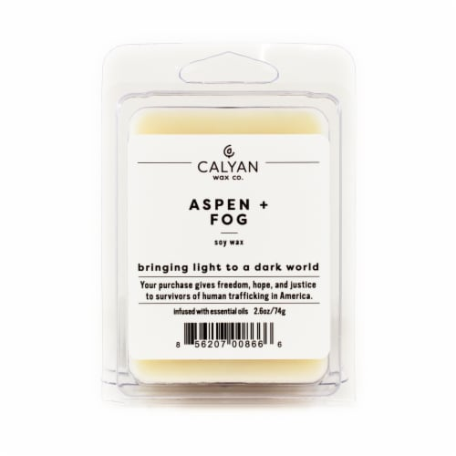 Calyan Wax Co. Soy Wax Melts - Aspen/Fog Perspective: front