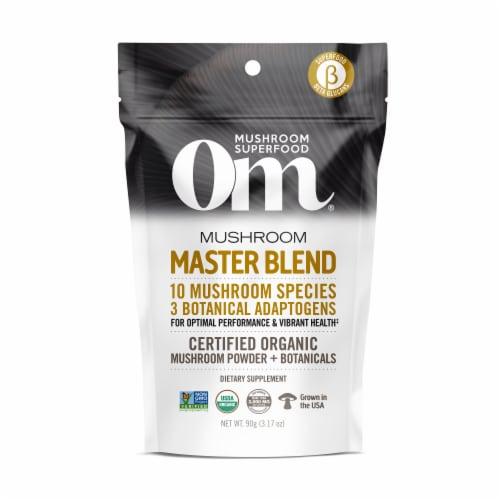 Om Mushroom Organic Master Blend Powder Perspective: front