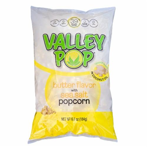 Valley Popcorn Butter Flavor Sea Salt Popcorn Perspective: front