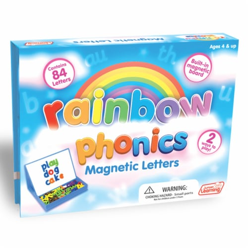 Junior Learning® Rainbow Phonics Magnetic Letters Perspective: front