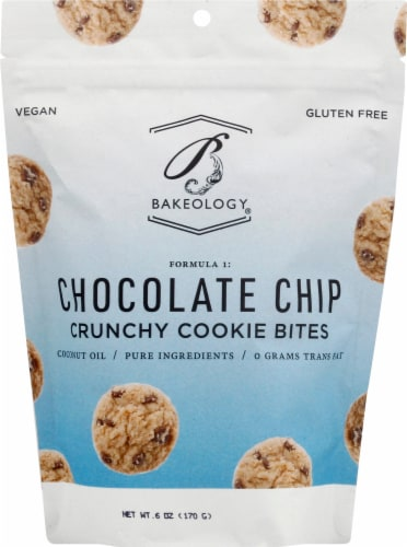 Bakeology Chocolate Chip Crunchy Cookie Bites Perspective: front