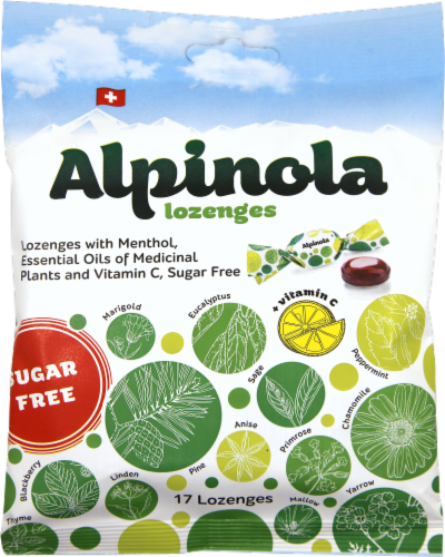 Alpinola Sugar Free Lozenges 20 Count Perspective: front