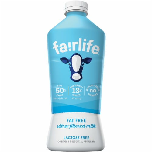 Fairlife Fat Free Ultra Filtered Lactose Free Milk Perspective: front