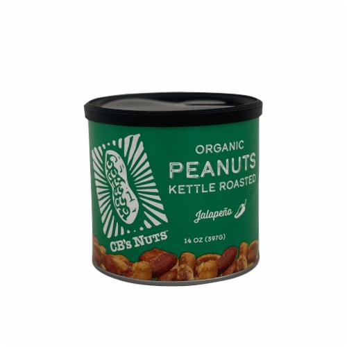 CB's Nuts Jalapeno Kettle Roasted Organic Peanuts Perspective: front