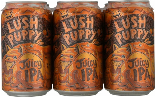 Bootstrap Brewing Lush Puppy Juicy IPA Beer Perspective: front