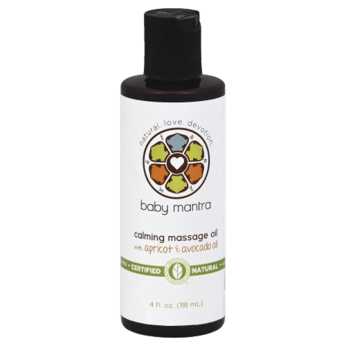 Baby Mantra Calming Massage Oil With Apricot & Avocado Oil Perspective: front