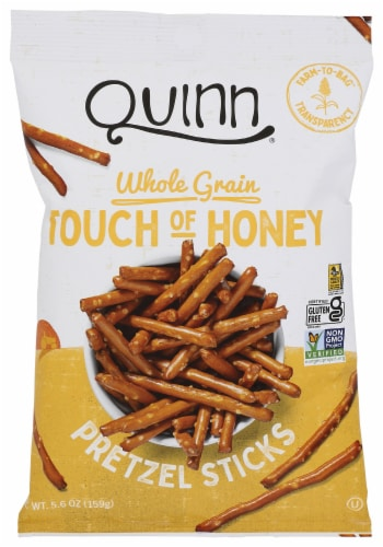 Quinn Touch of Honey Gluten Free Pretzels Perspective: front