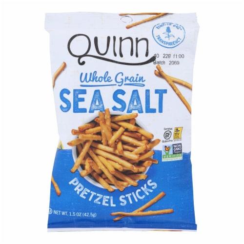 Quinn - Pretzel Sticks - Classic Sea Salt - Case of 36 - 1.5 oz. Perspective: front