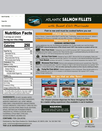 Next Wave Seafood Salmon Fillets with Sweet Chili Marinade Perspective: front