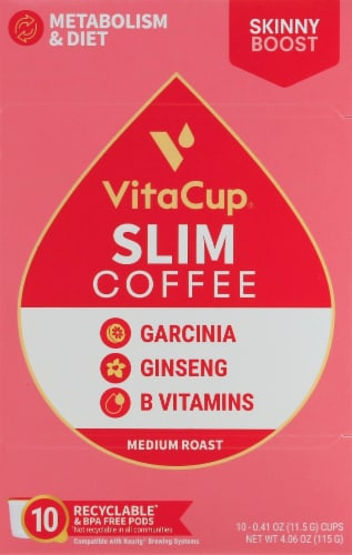 VitaCup Slim Blend Vitamin Infused Coffee Perspective: front