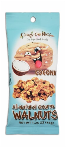 Crazy Go Nuts Coconut All-Natural Gourmet Walnuts Perspective: front