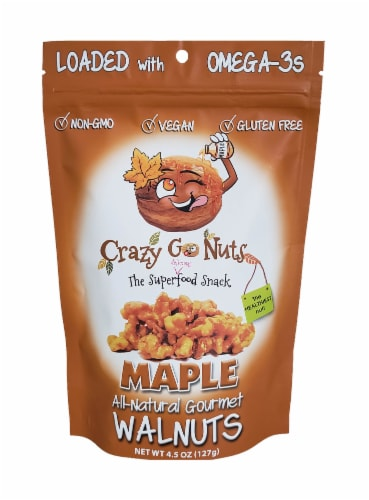 Crazy Go Nuts All-Natural Maple Gourmet Walnuts Perspective: front