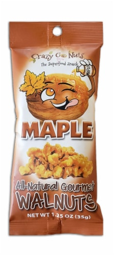 Crazy Go Nuts Maple All-Natural Gourmet Walnuts Perspective: front