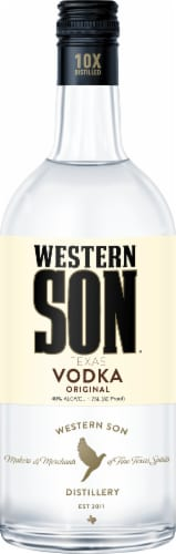 Western Son Texas Vodka Perspective: front