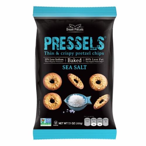 Pressel's Sea Salt Thin & Crispy Pretzel Chips Perspective: front