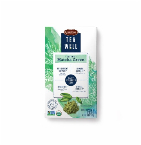 Celestial Seasonings Tea Well Organic Match Green Tea Bags Perspective: front