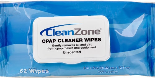 Clean Zone Unscented CPAP Cleaner Wipes Perspective: front